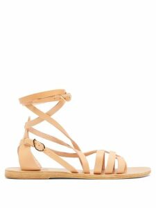 Ancient Greek Sandals - Satira Wrap-around Leather Sandals - Womens - Tan