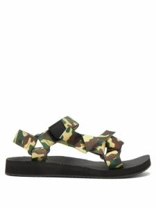 Arizona Love - Trekky Camouflage Velcro-strap Sandals - Womens - Green