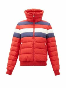 Perfect Moment - Queenie Striped Down-filled Jacket - Womens - Red Multi