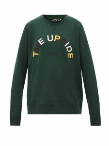 The Upside - Sid Horseshoe-logo Cotton Sweatshirt - Womens - Green Print