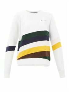 The Upside - Sunrise Bondi Striped Cotton Jersey Sweatshirt - Womens - White Multi