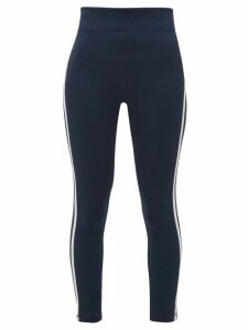 The Upside - Sonia Diamond-jacquard Jersey Leggings - Womens - Navy