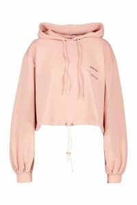 Womens Wear Me Oversize Crop Hoodie - pink - M, Pink