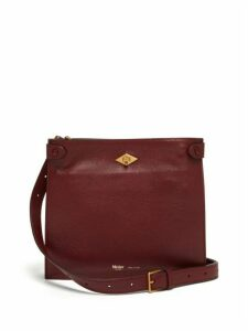 Métier London - Stowaway Leather Cross-body Bag - Womens - Burgundy