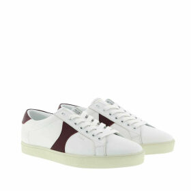 Celine Sneakers - Triomphe Low Lace-Up Sneakers Calfskin White/Burgundy - white - Sneakers for ladies