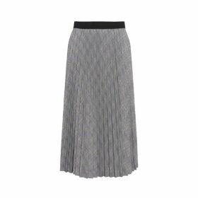 Gerard Darel Pleated Checked Tia Skirt