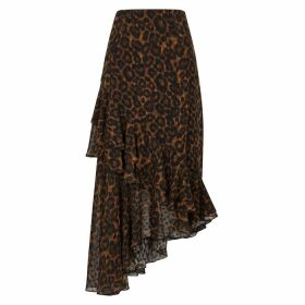 Erdem Antoinette Leopard-print Midi Skirt