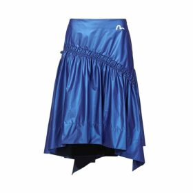 Evisu Layered Skirt With Logo And Seagull Print