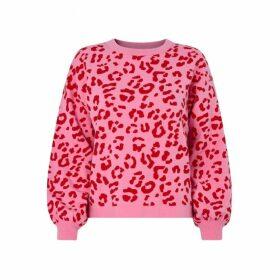 Kitri Chiara Pink Animal Jacquard Jumper