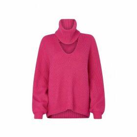 Kitri Donna Pink Rib Knit Jumper