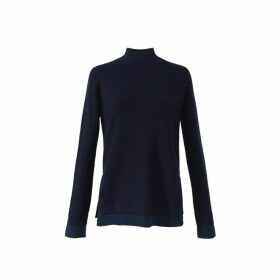 Gerard Darel Wool And Cashmere Funnel Neck Sorrel Sweater