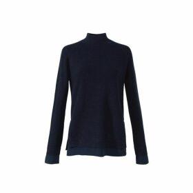 Gerard Darel Wool And Cashmere Funnel Neck Sorrel Sweater