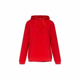 Gerard Darel Elie Hooded Sweatshirt With Printed Writing