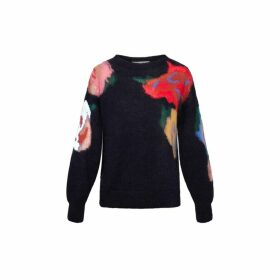 Gerard Darel Printed Mohair Salome Sweater