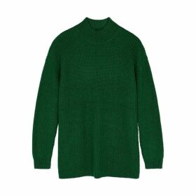 Alice + Olivia Sarah Green Wool-blend Jumper