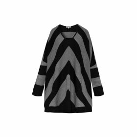 Gerard Darel Light Oversized Striped Smile Sweater