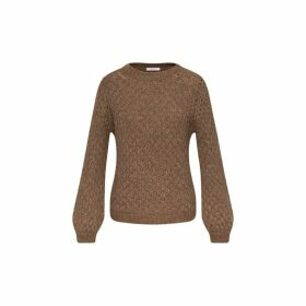 Gerard Darel Fancy Knit Sulivan Sweater In Alpaga And Merinos Wool