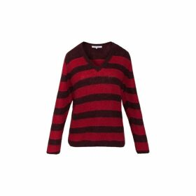 Gerard Darel Striped Mohair And Lurex Sardaigne Sweater