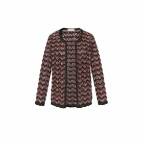 Gerard Darel Multi-colored Openwork Knit Stockholm Sweater With Lurex