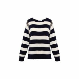 Gerard Darel Striped Sybella Sweater With Strass