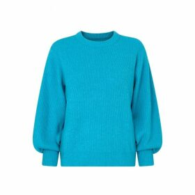 Kitri Odell Blue Rib Knit Jumper