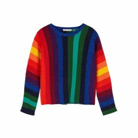 Alice + Olivia Dessie Striped Wool-blend Jumper
