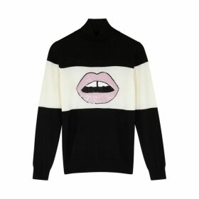 Markus Lupfer Emma Black Roll-neck Wool Jumper