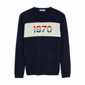 BELLA FREUD 1970 Navy Cashmere-blend Jumper