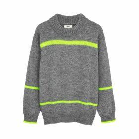 Mads Nørgaard Kiramo Grey Metallic-weave Jumper