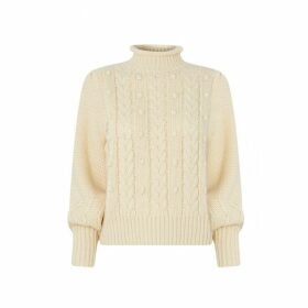 Kitri Giulia Cream Cable Knit Jumper