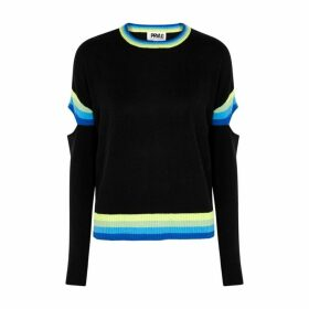 THREADS OF PRVLG Black Cut-out Cashmere Jumper