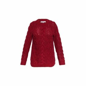 Gerard Darel Two-toned Wool Cable Knit Marilyn Sweater