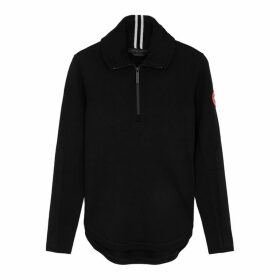 Canada Goose Fairhaven Black Merino Wool-blend Jumper