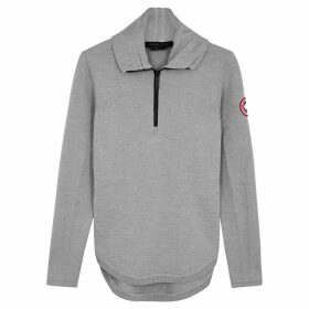 Canada Goose Fairhaven Grey Merino Wool-blend Jumper