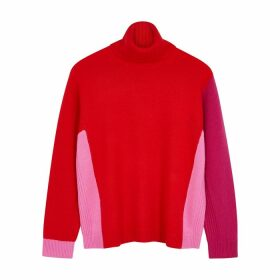 Diane Von Furstenberg Apple Roll-neck Wool-blend Jumper