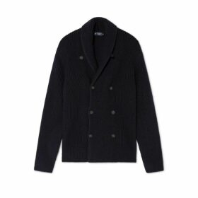Hackett Fishermans Rib Wool Shawl Collar Cardigan
