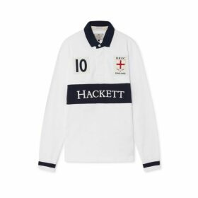 Hackett England Cotton Long-sleeved Rugby Shirt