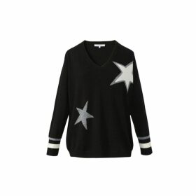 Gerard Darel Wool V-neck Sidony Sweater With Stars