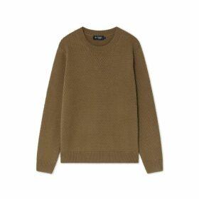 Hackett Textured Cotton Crew Neck Sweater