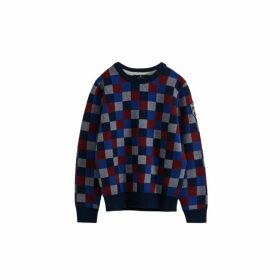 Hackett Multi-coloured Check Wool And Cotton Crew Neck Sweater