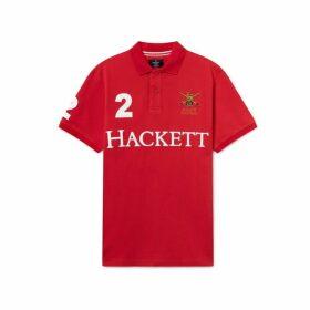 Hackett Army Polo Detail Cotton Short-sleeved Polo Shirt