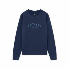 Hackett Classic Logo Detail Cotton Blend Crew Neck Sweater