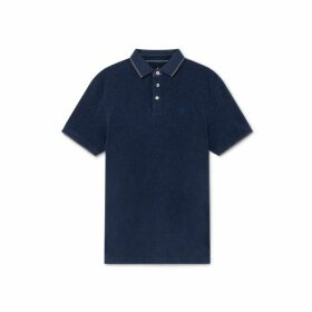 Hackett Trim Detail Cotton Short-sleeved Polo Shirt