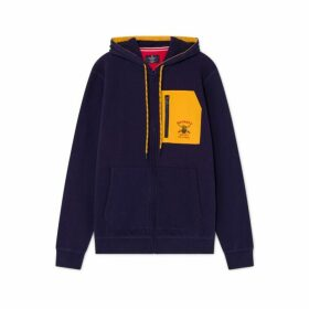 Hackett Army Polo Detail Cotton Zipped Hoodie