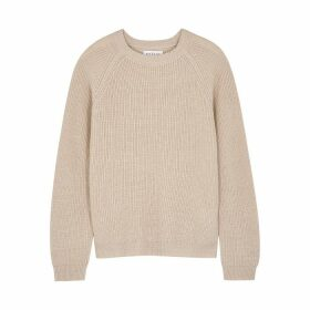 Velvet By Graham & Spencer Charli Metallic-weave Ribbed-knit Jumper
