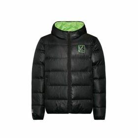 Evisu Initial And Kamon Print Down Jacket