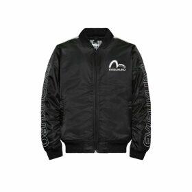 Evisu Ice Mountain Print Panel Bomber Jacket