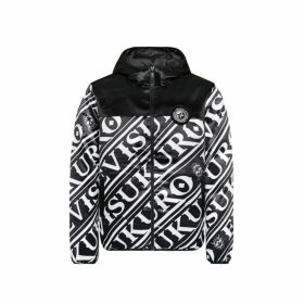 Evisu Monogram Print Satin Down Jacket