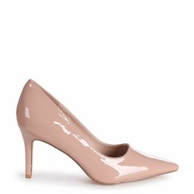 FAIRGROUND - Nude Patent Classic Pointed Court Shoe with Stiletto Heel