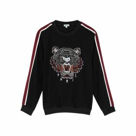 Kenzo Black Tiger-embroidered Sweatshirt
